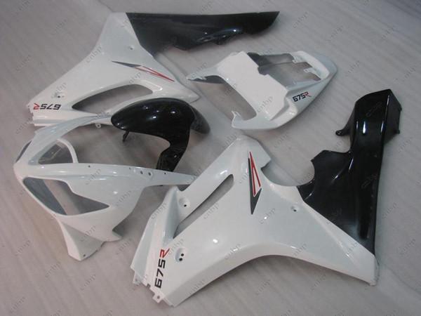 Bodywork Daytona 11 12 Plastic Fairings for Triumph 675 2010 White Black Full Body Kits Full Body Kits 2009 2009 - 2012