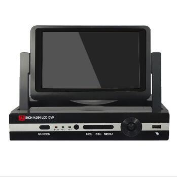 7inch LCD H.264 8 Channel All in One AHD DVR Recorder H.264 CCTV Security Surveillance System Digital Video Recorder