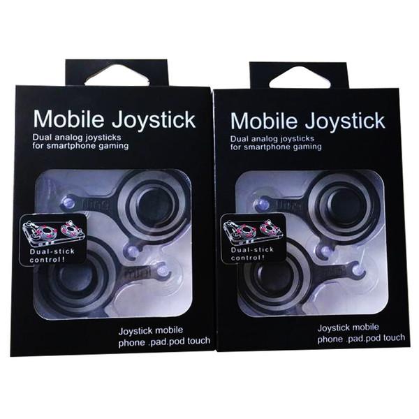 2017 New Fling mini Mobile Joystick Dual analog joysticks Smart Clip for samrtphone gaming iPad pod Touch iPhone 7 with Retail Box