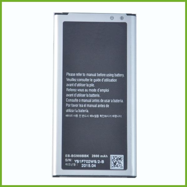 best selling battery power cell phone accessories 2800 mAh battery for Samsung S5 EB-BG900BK battery