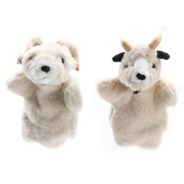 best selling Lovely Goat Hand Puppet Baby Kids Child Developmental Soft Doll Plush Toy Parent Child Interactive Game Hand Puppet