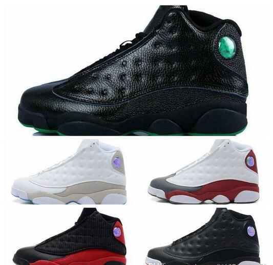 Hot sale Air Retro 13 mens basketball shoes XIII real black cat Bred Navy  Game Sport 27bbcb217