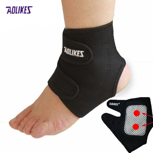All'ingrosso - Aolikes regolabile riscaldato Sport caviglia Supporta in bicicletta Caldo respirabile caviglia Kinesiologia Sport caviglia accessori sportivi