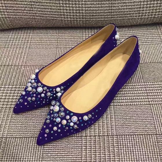 Fashion Women Pearls & Crystal Flats Elegant Comfortable Red Bottom Shoes Pointed-toe Slip on Ladies Girls Flat Party Wedding Dress 35-42