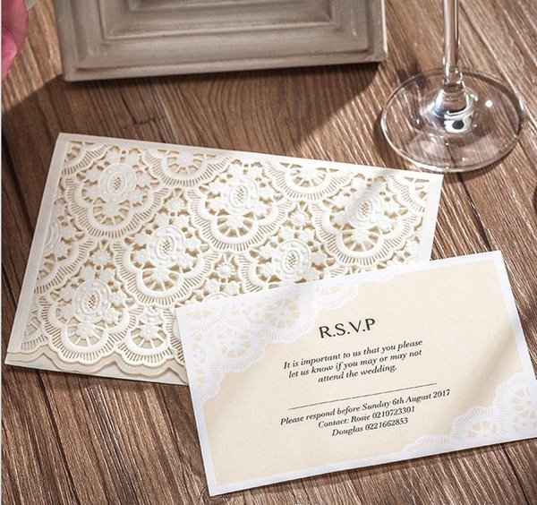 Wholesale Thank You Cards Wedding Invitations cards Personalized Wedding Invitation Cards with newest designs DHL free shipping in low price