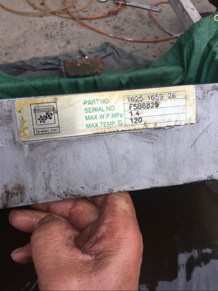 BLT37A alternative screw air compressor plate fin aluminum radiator oil cooler air cooler 1625165926(1625-1659-26) for screw machine