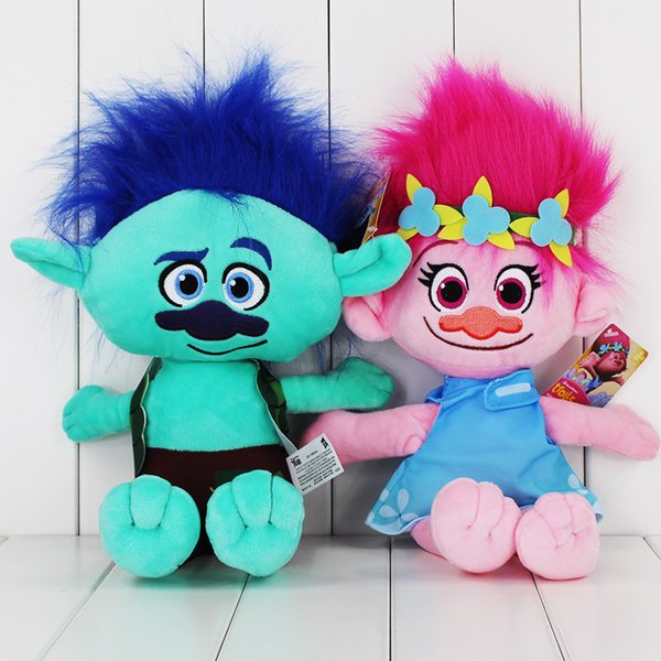 40cm Movie Trolls Poppy Branch Plush Toy Soft Plush Stuffed Doll for kids Christams gift free shipping EMS