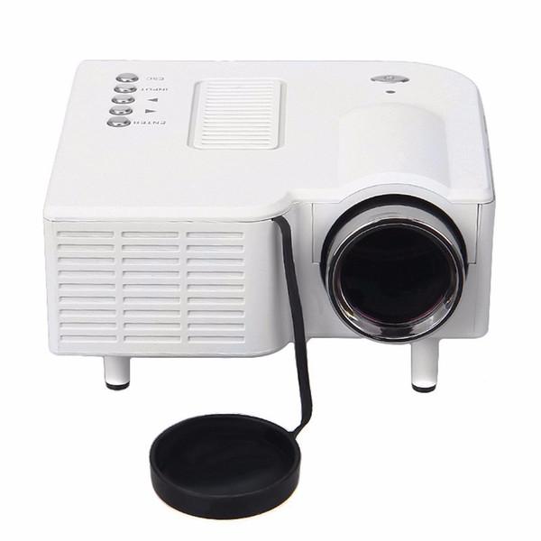 Wholesale-ExCool UC28 Portable Mini Multimedia Cinema Theater UC-28 Digital LED Projector VGA/USB/SD/AV/HDMI 3D Red Blue LCD Projector