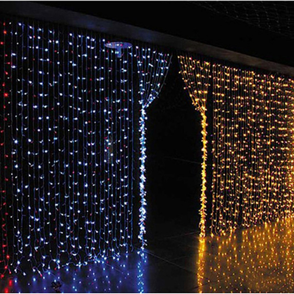 Curtain lights christmas lights 10*8m 10*5m 10*3m 8*4m 6*3m 3*3m led lights Christmas ornament string Flash Colored Fairy wedding Decor
