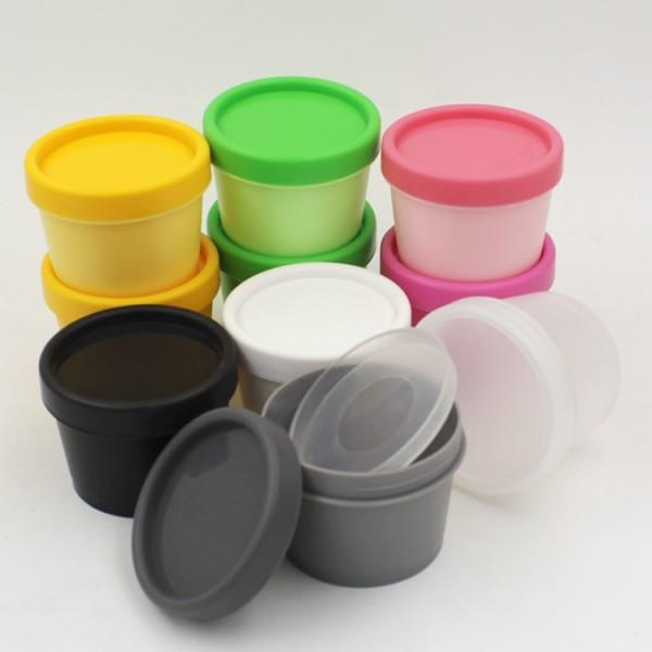 100G Candy Color Plastic Cosmetic Mask Cream Jar With Plastic Liner Cosmetic Cream Pot Containe Makeup Eye Shadow Nail Powder Jewelry Bottle