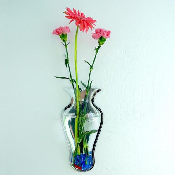 2017 Vase Mur Décoration Fish tank Aquarium Miroir Acrylique Décoration de La Maison Accessoires DIY Vases Floral Plantes Murales