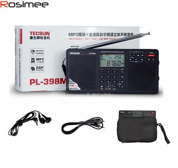 Marca por mayor-Tecsun Radio PL-398MP DSP FM Reproductor de MP3 FM estéreo / MW / SW / LW Receptor Tarjeta SD de doble altavoz portátil Radio Recorder Y4132A