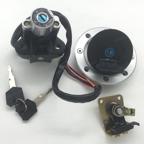 Fuel Gas Cap Ignition Switch Seat Lock Key For GSXR GSX600 GSX750 GSX1200 TL1000