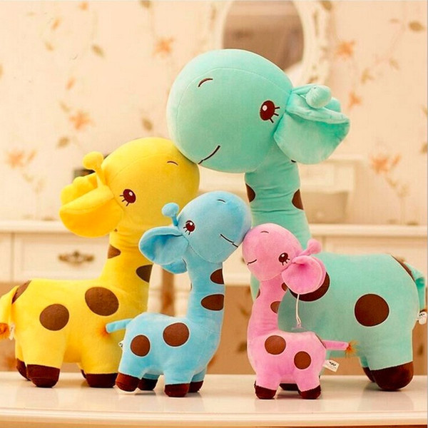 25cm Cute Plush Giraffe Baby Toys Colorful Animal Dear Doll As a Gift For Kids Baby Stroller Accesories