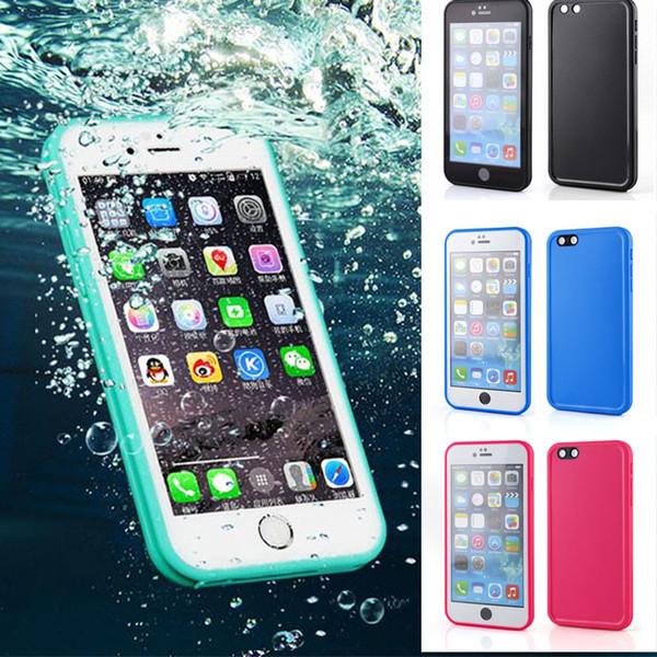 Étanche Dropproof Sports Swim Silicone Soft Phone Case pour iPhone X XS MAX XR 10 6 7 8 6S 5 5S SE 7 Plus 8plus 6s plus TPU 360 Couverture Complète