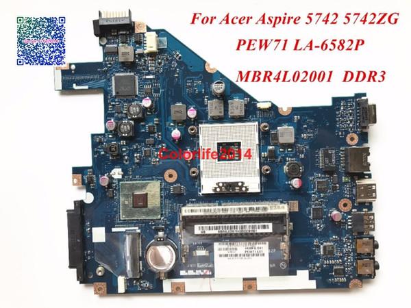 PEW71 LA-6582P für Acer Aspire 5742 Laptop Hauptplatine MBR4L02001 DDR3 HM55 PGA989 funktioniert perfekt