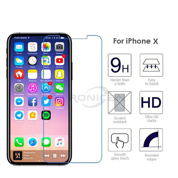 2.5D Premium Tempered Glass Manufacturer Price Screen Protector for iphone x 8 6 6s 7 Plus 5S 5 Samsung S7 S6 edge s5 s8 plus huawei p10