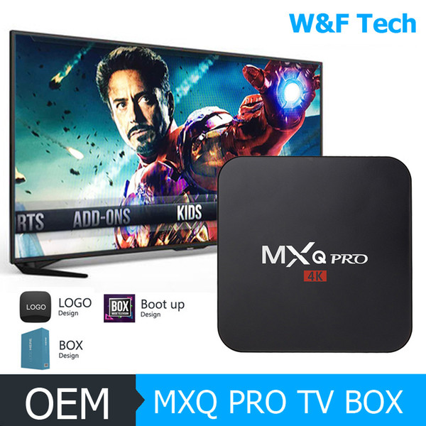 best selling Hot MX2 MXQ PRO Amlogic S905W Quad Core Android 7.1 TV BOX With Customized 18.1 4K Media Player