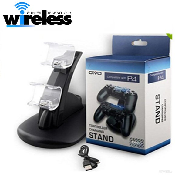 Dual usb charging chargers for ps4 xbox one wireless controller dock mount stand holder for ps4 controller xbox one with box