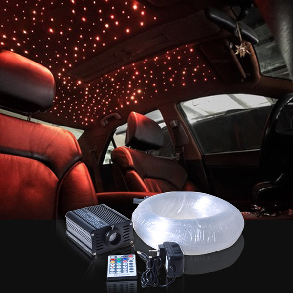 New Novelty Light LED Fiber Optic Star Ceiling Kit Mixed With 16w Rgbw Led Fiber Optic Light Engine 28 Keys Remote Controller