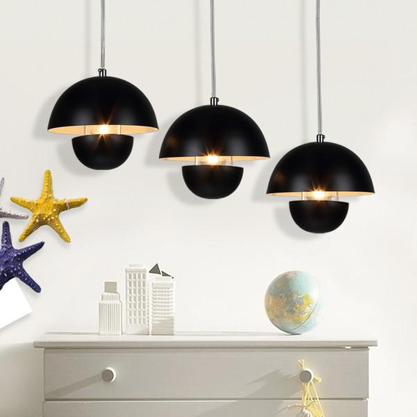 Eisen Restaurant Kronleuchter Moderne Bar Lampe Nordic Cafe Beleuchtung Weiß  Schwarz Optional Lampe Abdeckung Durchmesser 18cm