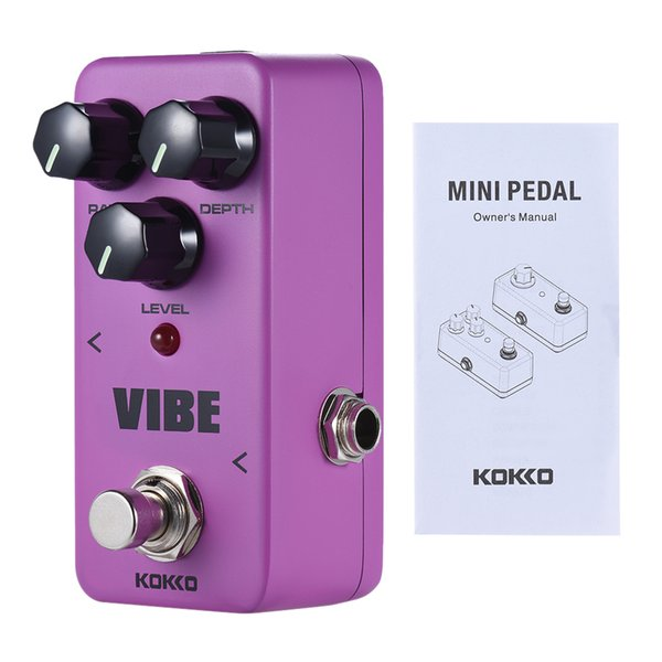 KOKKO VIBE Mini Analog Rotary Speaker Electric Guitar Effect Pedal True Bypass Full Metal Shell 2017