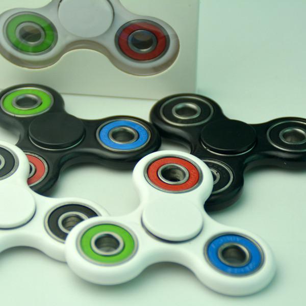 New Version colorful HandSpinner fingertips spiral fingers gyro Torqbar fidget spinner stainless steel bearing with brass ceramic ball