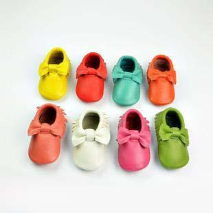 Free DHL Genuine leather tassels Bow moccasins soft leather baby first walkers shoes baby booties toddler shoes 8Colors Choose freely