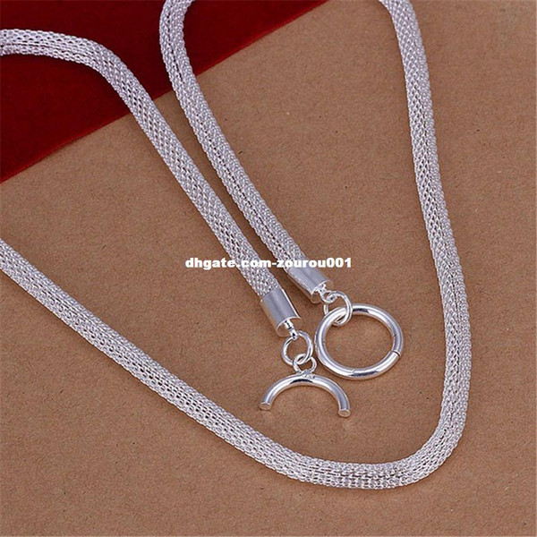 New Listing male models silver plated refined Necklace Fashion classic Burst models silver jewelry