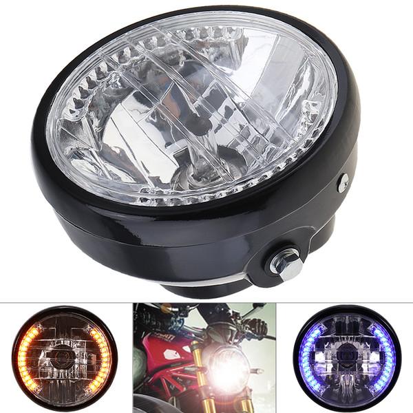 7 Polegada 35 W 12 V Universal Farol Da Motocicleta Rodada LED Turn Signal Indicadores Luz com Suporte para Motocicleta MOT_21D