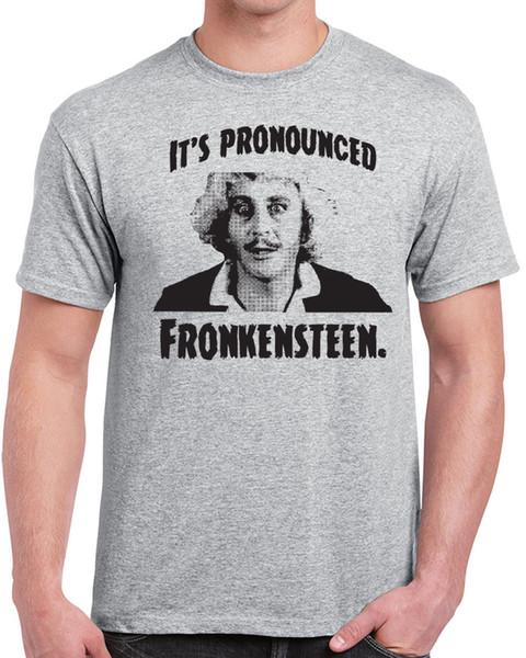T-shirt da uomo di Gene Wilder Tribute 527 giovane fronkenstein frankenstein anni '80 movie