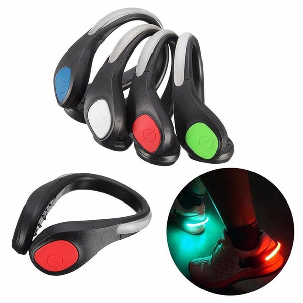 best selling Novel Lighting Night Running LED Shoes Clip Safety Signal plastic LED shoes Clips flash luminous Light outdoor safety Shoes Clip