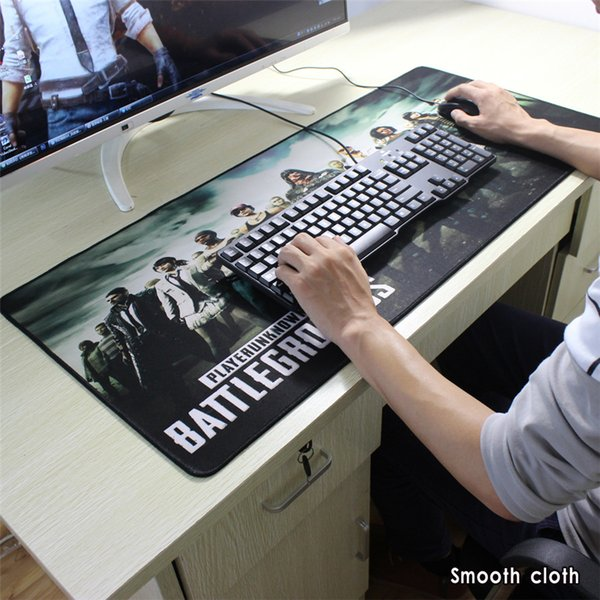 top popular Various sizes of playerunknown's battlegrounds map mouse pad precision lock edge gaming mouse pad anti-slip notebook mat 2020