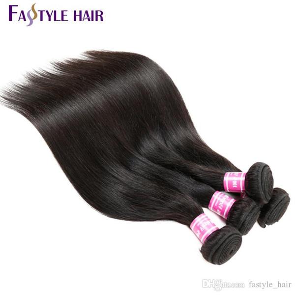 Fashionable2017! Indian Straight Hair Weave Extension Unprocessed Brazilian Peruvian Malaysian Mink Virgin Human Hair Bundles Super Quality