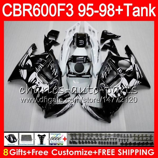 8 Cadeaux 23 Couleurs Pour HONDA CBR600F3 95 96 97 98 CBR600RR FS 2HM1 Graffiti noir CBR600 F3 600F3 CBR 600 F3 1995 1996 1997 1998