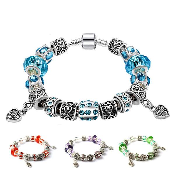 big hole crystal bracelet women charm bracelet 2018 hotsell fashion bracelet freeshipping whosale