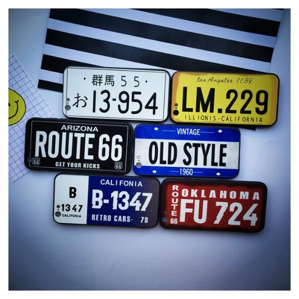 top popular License Plate Number Phone Case For iPhone 7 Plus 6 6s TPU 11 pro max Cases Car Number License Plate Capa Funda Coque Cover 2020