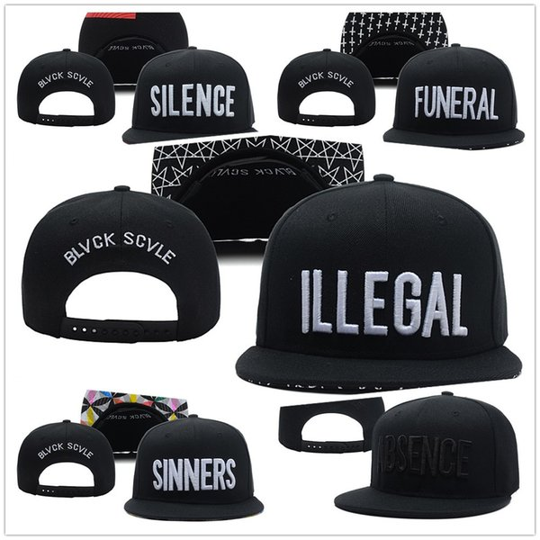 48985a577 Cheap Black Scvle Hats FUNERAL ILLEGAL SILENCE SINNERS ABSENCE Caps  Baseball Sport Casquette Snapback Street Panel Hip Hop Ball Bone Gorras  Brixton ...