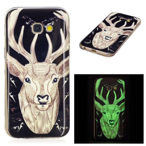 Cover For Samsung Galaxy A3 A5 J3 J5 J7 2017 J5 prime J7Prime S8 Plus Lumious TPU IMD Case Delight Gel Rubber Silicone Cellphone Cases