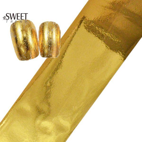 Wholesale-100cmx4cm Fashion Designs Gold Foils Polish Nail Art Transfer Foil Sticker Full Wraps Nail Decals Adhesive Manicure Decor JY02