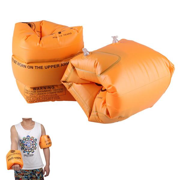 Atacado-2Pc / Pair Natação Anel de Braço de Segurança Flutuante Inflável Air Mangas Adulto / Criança