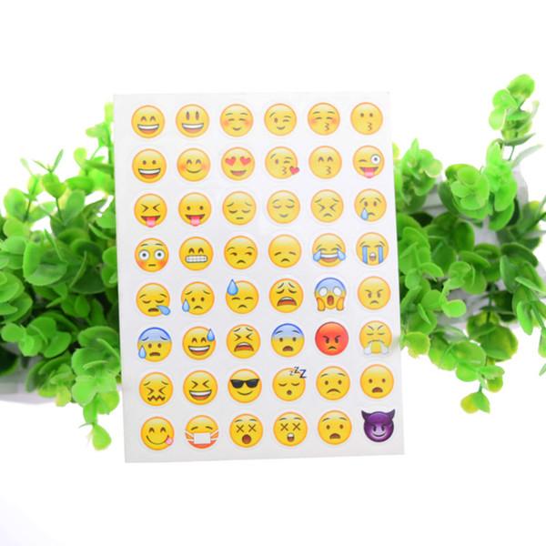 100pcs Emoji Face Stickers Removable Decal Mural Home Decor Emoji Smile Sticker For Laptop Notebook Facebook Tiwtter Child Gifts DIY label