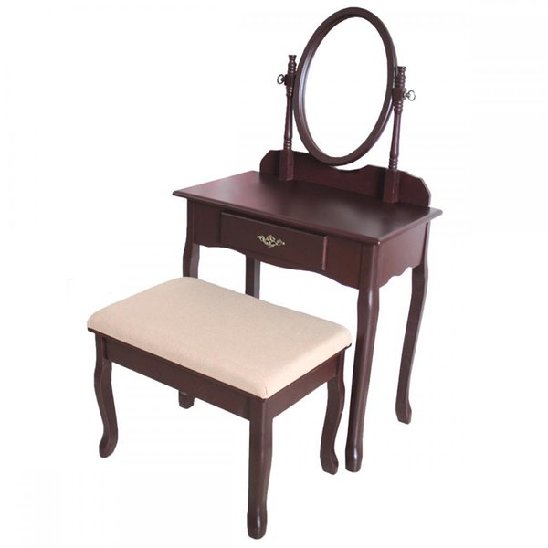 Surprising 2019 Cherry Wood Vanity Drawer Mirror Dressing Table Jewelry Makeup Set From Newlife2016Dh 80 4 Dhgate Com Squirreltailoven Fun Painted Chair Ideas Images Squirreltailovenorg