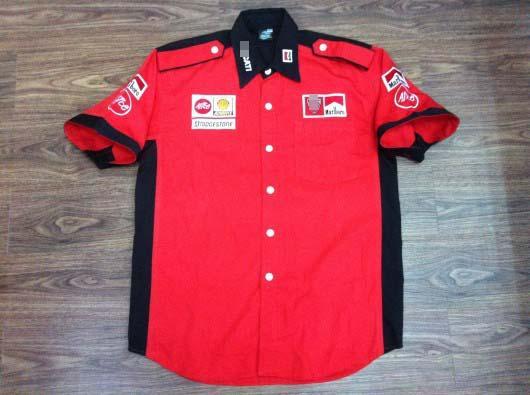 Chemise de broderie F1 Chemise en coton Supercar Racing pour maillot de moto C10