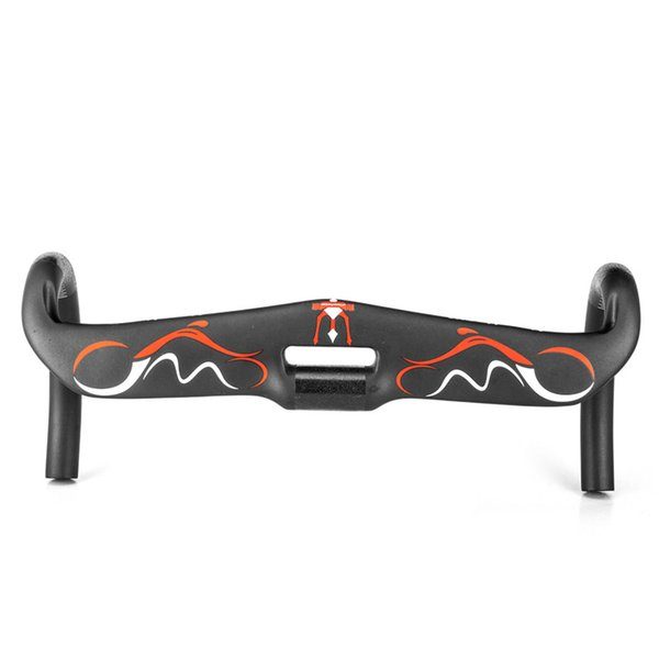 Newest Full Carbon Handlebar Road Bike Handlebar Racing Handle Internal Cable Bent Handlebar Bike Handle BarsBlack UD Matte