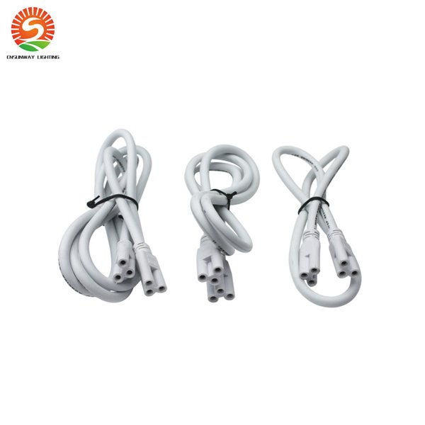 cable accesorio led cable t8 t5 1 pie 2 pies 3 pies 4 pies 4 pies 5 pies para T8 T5 integrado luces led tubos Conector CE ROHS UL DLC