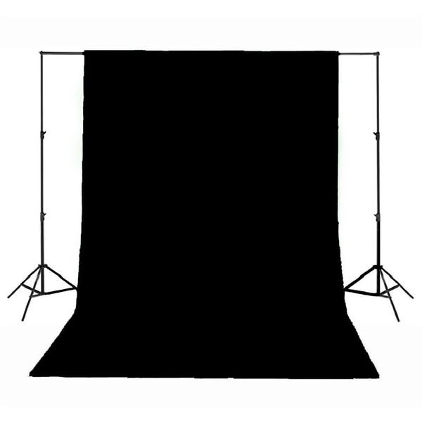 Professional Studio Photography Background Backdrop Cotton Muslin 3 x 6 Meter Black