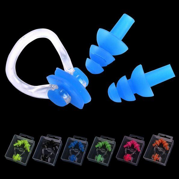 High Quality Swimming Earplugs And Nose Nose Clip For Swimming Silicone Ear Plug Hearing Protector Diving Ear Plugs