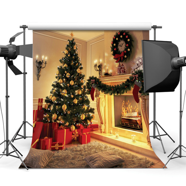 Christmas 5X7ft camera fotografica backdrops vinyl cloth photography backgrounds wedding children baby backdrop for photo studio