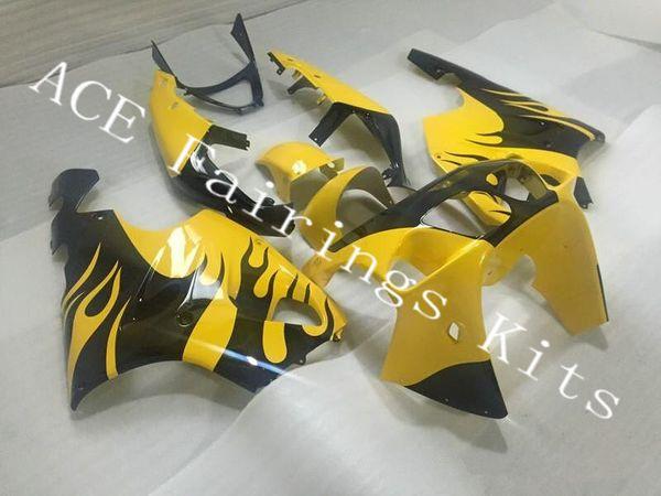 Three free beautiful gift new high quality ABS fairing plates for Kawasaki Ninja ZX-7R 1996-2003 ZX7R Very nice black yellow a3